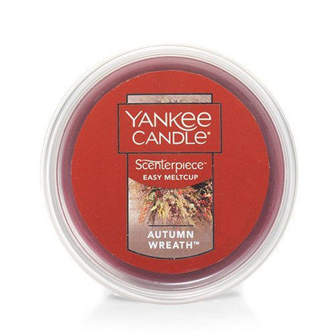 Yankee Candle Autumn Wreath Scenterpiece Easy MeltCup, Food & Spice Scent 2.2 oz