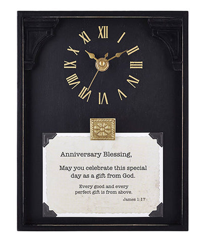 Heartfelt B3220 CB Gift Heartfelt Collection Capture The Moment Black Framed Table Clock with Verse,