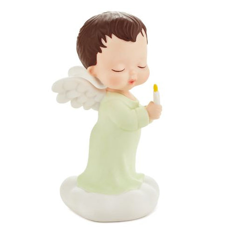 Hallmark Mary's Angels Let Your Light Shine Green Figurine