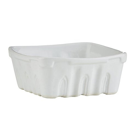 47th & Main MR699 Porcelain Berry Basket, Medium, White