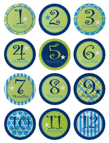 Evergreen Enterprises 7BS013 MY First Year Belly Stickers - Boy