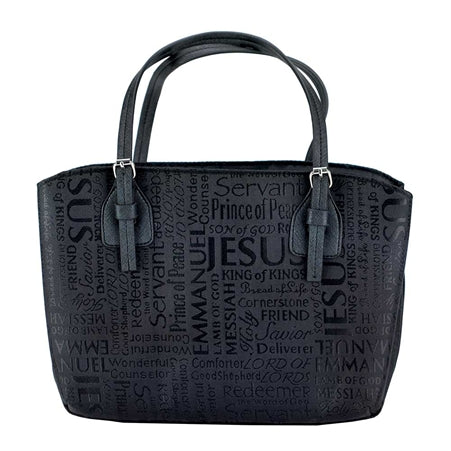 Dicksons 22456L Names of Jesus Handbag Style Bible Cover - Black - Large
