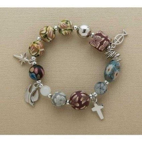 Roman Inc. 77918 Christ Story Clay Bracelet
