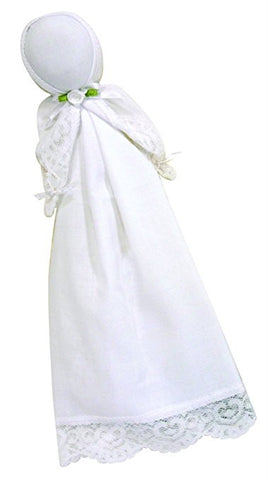 Stephan Baby Keepsake Trousseau Handkerchief Doll, White