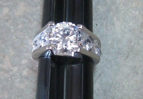 R. S. Covenant 4385 Silver CZ Round Cut Ring Size 10