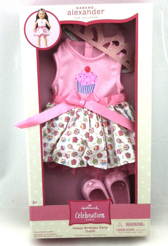 Hallmark Madame Alexander Happy Birthday Party Outfit