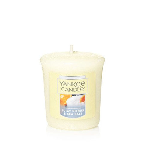Yankee Candle JUICY CITRUS & SEA SALT Single Sampler Votive Candles 1.75 oz