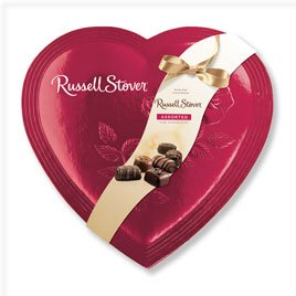 Russell Stover 0289 Red Foil Heart Assorted Chocolates, 34 Ounce Box