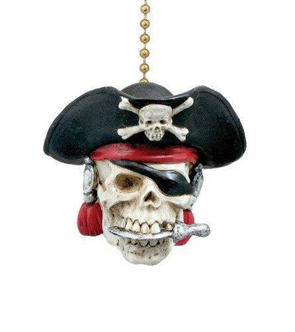 Pirate Skull Fan Pull