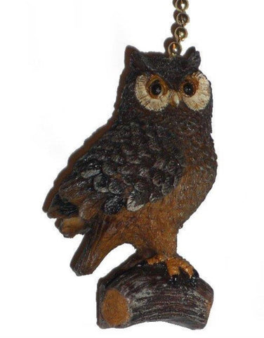 Woodland Owl Fan Pull
