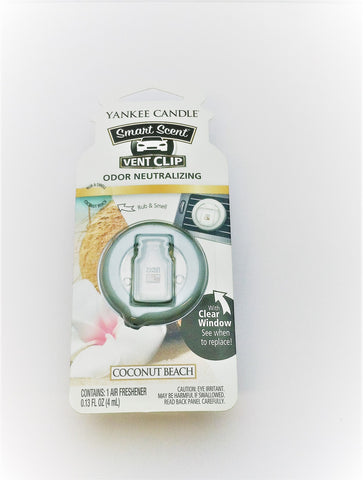 Yankee Candle Coconut Beach Car Vent Clip