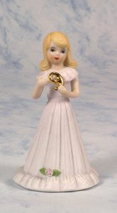 Enesco Growing Up Girls - Age 9 Blonde