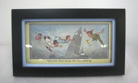 Hallmark Disney DYG9732 Never Grow Up - Peter Pan Framed Print