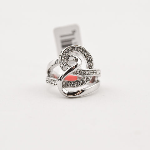 R. S. Covenant Sterling Silver Crystal Ring - 7