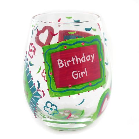 ENESCO 4057323 STEMLESS BIRTHDAY GIRL GLASS