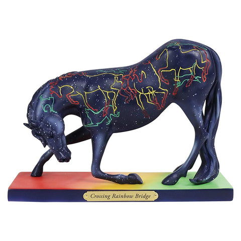 "Enesco Trail of Painted Ponies ""Crossing Rainbow Bridge, 5"" Stone Resin Figurine, 5"", Multicolor"
