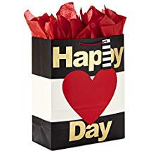 Hallmark Ready To Go Happy Heart Day Extra Large Gift Bag