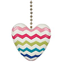 Clementine 352 Colorful Chevron Heart Fan Pull