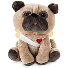 Hallmark Cupid Pug Stuffed Animal