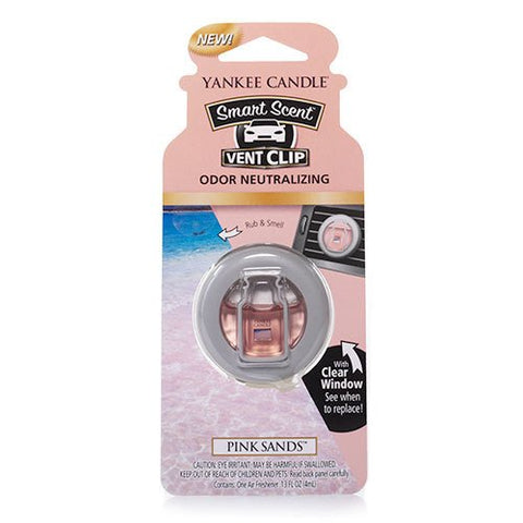 Yankee Candle Pink Sands Smart Scent Car Vent Clip Air Freshener, Fresh Scent