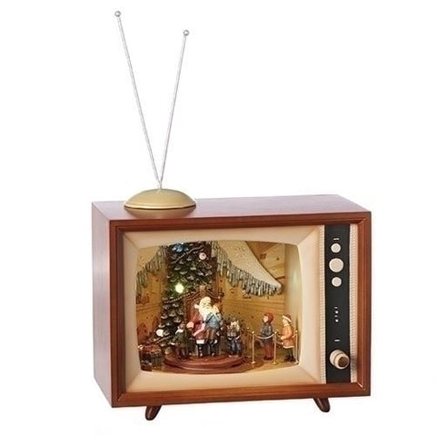 "Roman 130741 Musical 15""W Visit To Santa Led Tv Tree Rotates"