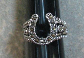 R. S. Covenant 809 Marcasite Horseshoe Ring Size 6
