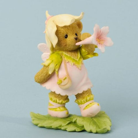 Cherished Teddies Fig Bear Fairy/Flower