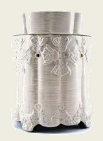 Tyler Candle Company Ornate Brushed Platinum Mixer Melter - Fragrance Warmer
