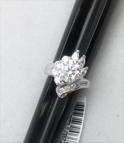 R.S. Covenant 728 Elegant Cz Burst Ring Size 10