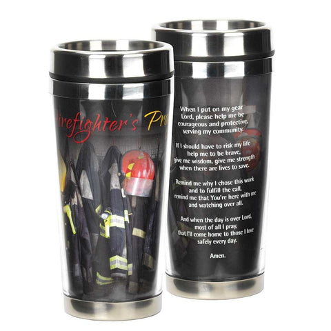 Dicksons SSMUG-212 Firefighter's Prayer Come Home Safely 16 Ounce Stainless Steel Travel Mug with Li