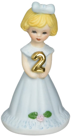 Enesco Growing up Girls Blonde Age 2 Figurine 3 IN