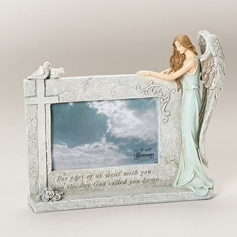 Roman Inc 47696 - God Called You Home Angel Bereavement In Memory 4 x 6 Photo Stone Picture Frame