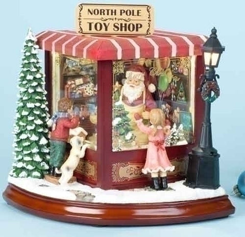 "Roman 35178 - 8"" Santas' North Pole Toy Shop"