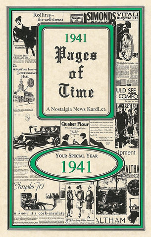 1941 Pages Of Time A Nostalogic Look Back in Time