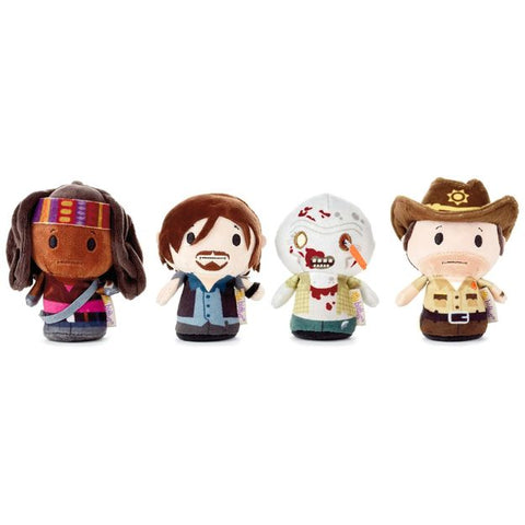 Hallmark itty bittys The Walking Dead Plush Collectors Set of 4