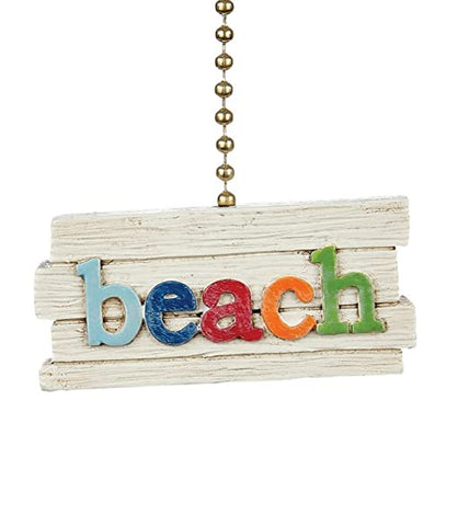 Clementine 359 Colorful Beach Sign Fan Pull