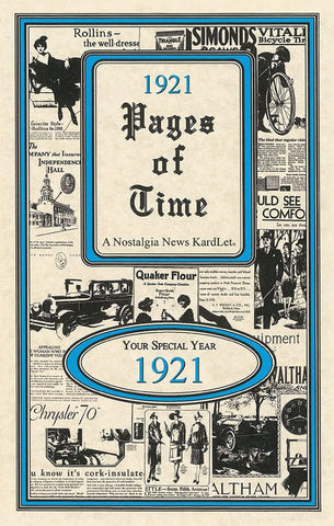 1921 PAGES OF TIME A Nostalogic Look Back in Time