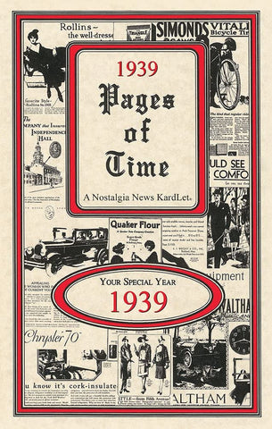 1939 PAGES OF TIME A Nostalogic Look Back in Time