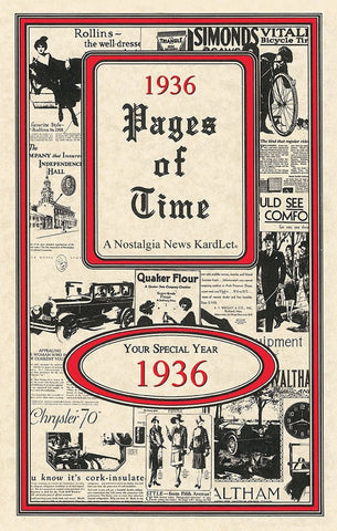 1936 PAGES OF TIME A Nostalogic Look Back in Time