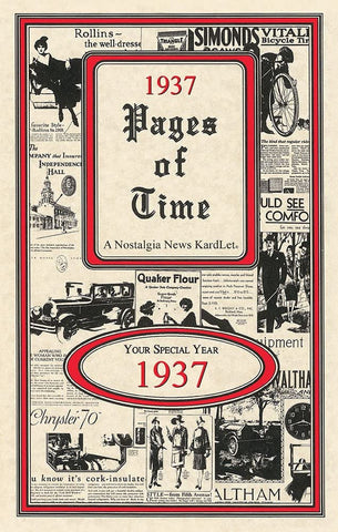 1937 PAGES OF TIME A Nostalogic Look Back in Time