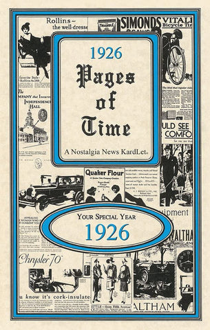 1926 Pages of Time A Nostalogic Look Back in Time