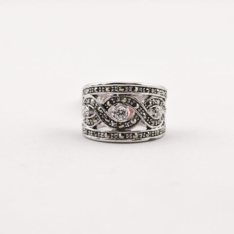 R. S. Covenant 817 Marcasite CZ Ring Size 6