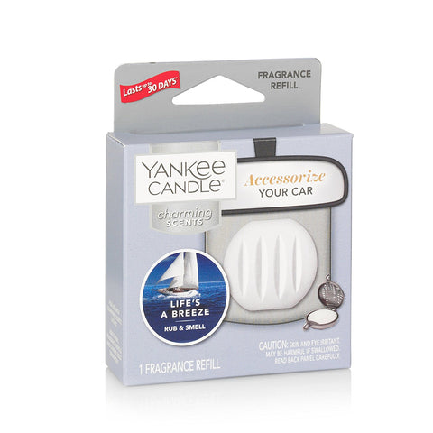Yankee Candle Charming Scents Car Air Freshener Refill, Life's A Breeze
