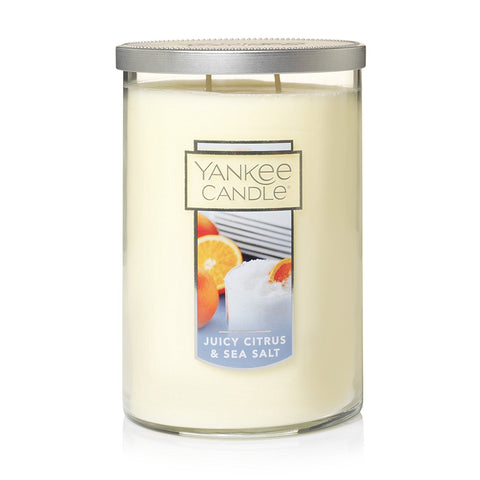 Yankee Candle Large 2-Wick Tumbler Candle, Juicy Citrus & Sea Salt