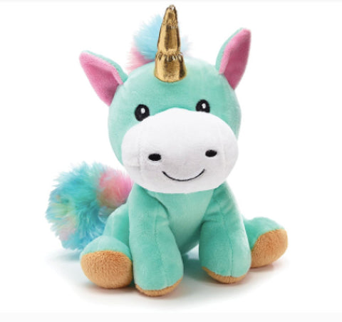 Burton & Burton Plush Rainbow Unicorn with Gold Horn