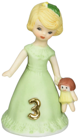Enesco E2303 Growing Up Girls Age 3 Blonde