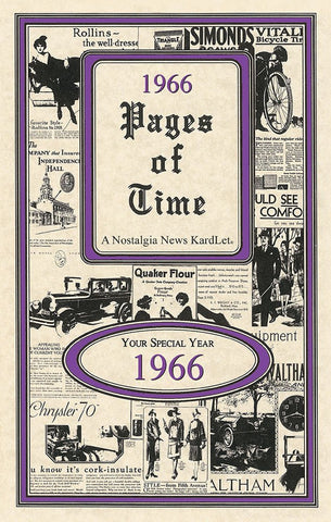 Pages of Time 1966 A Nostalogic Look Back in Time
