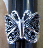 R. S. Covenant 1759 Women's Marcasite Butterfly Ring SZ 9