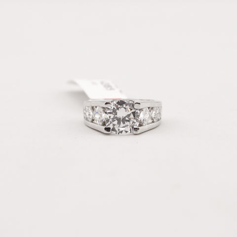 R. S. Covenant 4385 Silver CZ Round Cut Ring Size 6