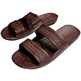 Pali Hawaii Sandals Jandals Brown Size 13